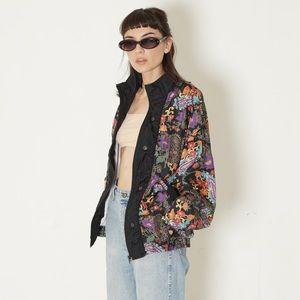 '90s vintage nylon floral windbreaker